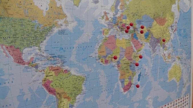 Schwerpunkt-Länder der Entwicklungszusammenarbeit der ADA
